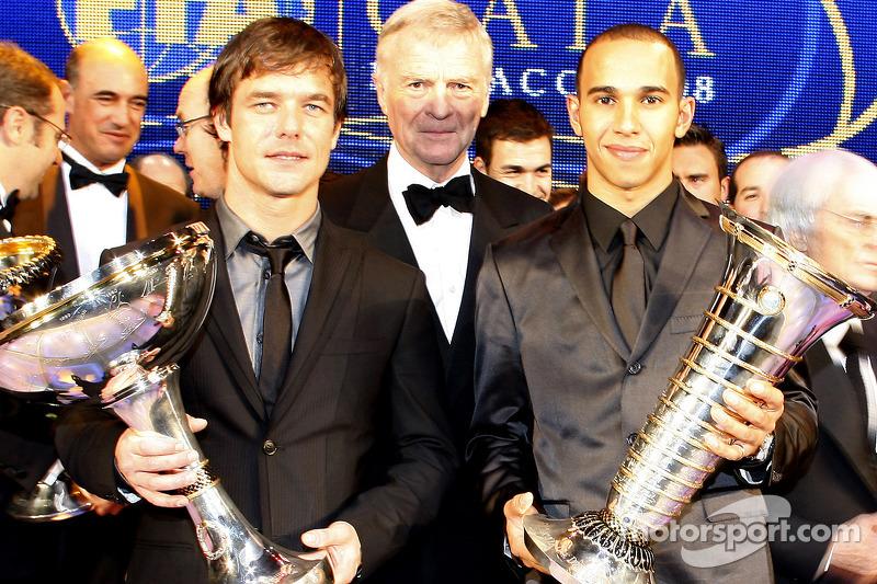 FIA World Rally champion Sébastien Loeb, FIA President Max Mosley and FIA Formula 1 World champion L
