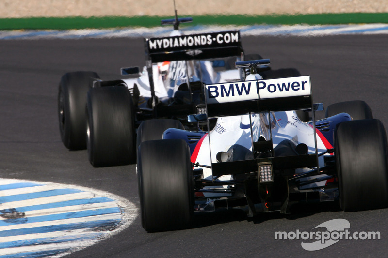 Christian Klien, Test Driver, BMW Sauber F1 Team, Nico Hulkenberg, Test Driver, WilliamsF1 Team