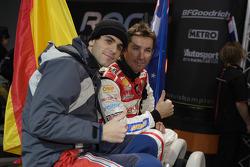 Troy Bayliss and Jaime Alguersuari