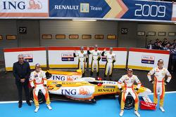 Fernando Alonso; Flavio Briatore; Nelson A. Piquet; Romain Grosjean; Renault-Nachwuchstalente, Renault, R29