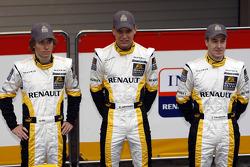 Charles Pic, Marco Sorensen und Davide Valsecchi, Renault