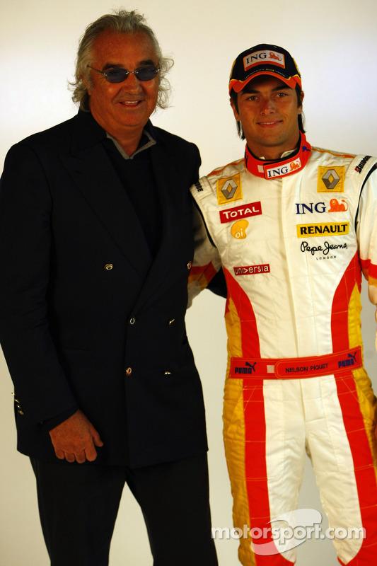 Flavio Briatore und Nelson A. Piquet, Renault