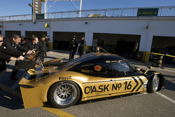 #16 Penske Racing Porsche Riley pushed to the garage