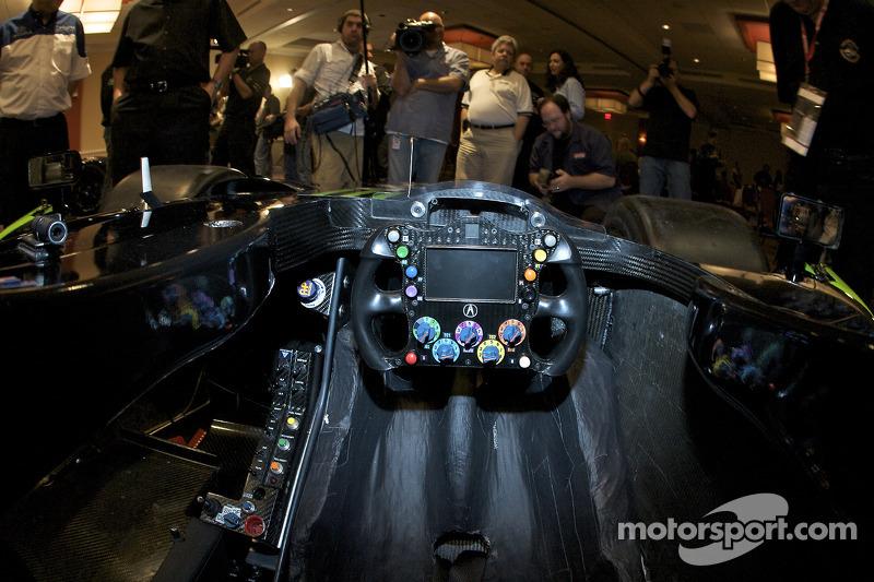 #9 Patron Highcroft Racing Acura ARX 02a Acura cockpit detail