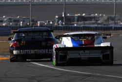 #21 Battery Tender MCM Racing Pontiac GTO.R: Jason Daskalos, Jim Stout, #59 Brumos Racing Porsche Riley: Joao Barbosa, Terry Borcheller, JC France, Hurley Haywood