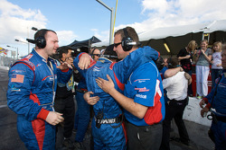 Brumos Racing team members celebrate victory