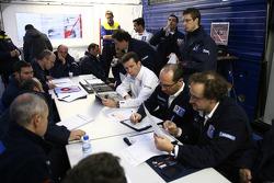 Peugeot Sport team members at work