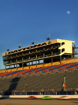 Full moon rising over Superstretch grandstand