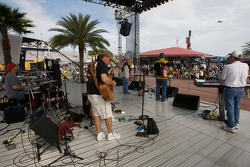 Live entertainment in the Fan Zone