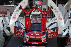Podium: winners Sébastien Loeb and Daniel Elena, Citroen C4, Citroen Total World Rally Team