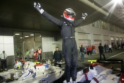 Winner Nico Hulkenberg celebrates
