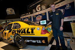 Champion's breakfast: Matt Kenseth, Roush Fenway Racing Ford, poses with his 2009 Daytona 500 winning car