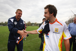 Fernando Alonso, Renault F1 Team with Danny Alsopp Melbourne Victory footballer