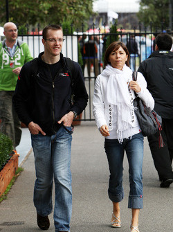Sébastien Bourdais, Scuderia Toro Rosso with his wife Claire