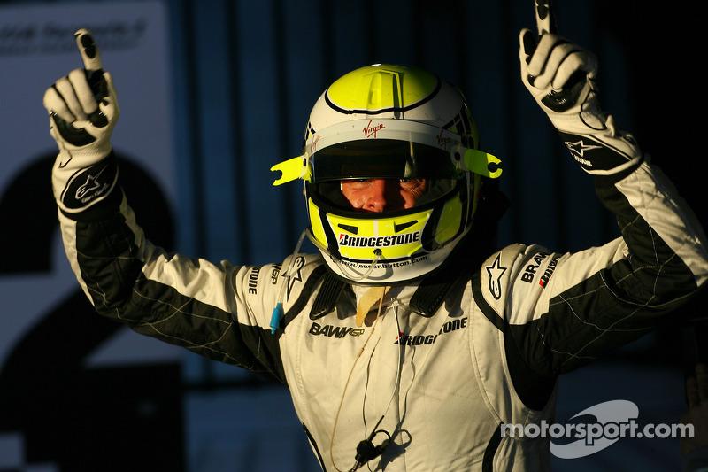 Jenson Button, Brawn GP, kutlama yapıyor