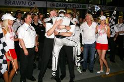 Ross Brawn Team Principal, Brawn GP, Jenson Button, Brawn GP, Sir Richard Branson, Virgin Group CEO