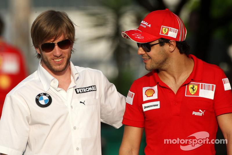 Nick Heidfeld, BMW Sauber F1 Team, Felipe Massa, Scuderia Ferrari