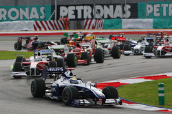 Start: Nico Rosberg, Williams leads the field