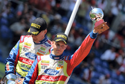 Second place Mikko Hirvonen and Jarmo Lehtinen