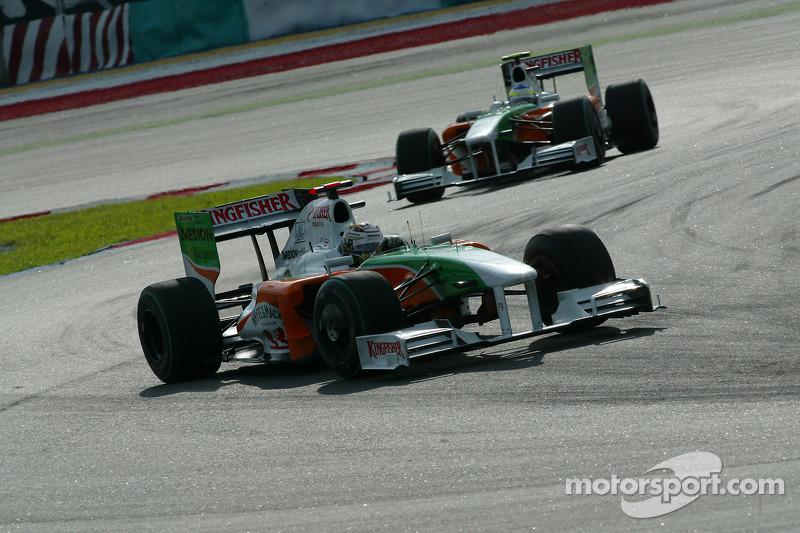 2009: Force India VJM02 Mercedes (один подиум, 9-е место в КК)