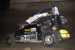 Jesse Hockett (8) and Kevin Swindell (32) battle for the lead