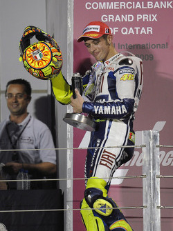 Podium: second place Valentino Rossi, Fiat Yamaha Team