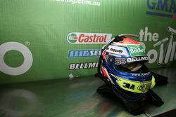 Tony D'Alberto's helmet, The Bottle-O Racing Team