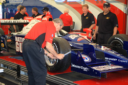 Panther Racing car of Dan Wheldon at tech inspection