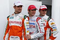 Vitantonio Liuzzi, Test Pilotu, Force India F1 Team, Jarno Trulli, Toyota Racing, Giancarlo Fisichella, Force India F1 Team, support for Italian earthquake victims