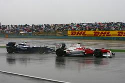 Timo Glock, Toyota F1 Team and Kazuki Nakajima, Williams F1 Team