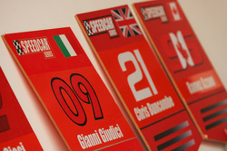 Grid boards for Gianni Giudici and Chris Buncombe Team Lavaggi
