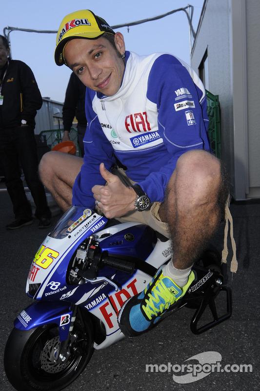 Valentino Rossi, Fiat Yamaha Team on a mini Yamaha at Japanese GP