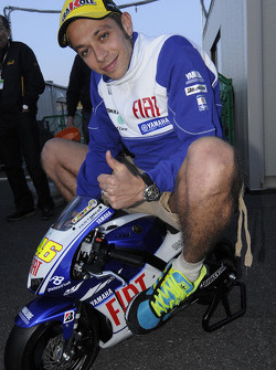 Valentino Rossi, Fiat Yamaha Team on a mini Yamaha
