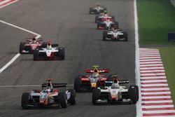 Jerome D'Ambrosio, DAMS, Sergio Perez, Barwa International Campos Team and Edoardo Mortara, Arden International Motorsport