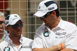 Nick Heidfeld, BMW Sauber F1 Team and Robert Kubica, BMW Sauber F1 Team