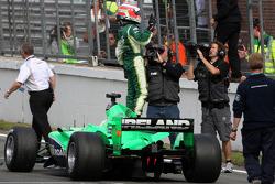 Adam Carroll, driver of A1 Team Ireland wins the world cup of motorsport