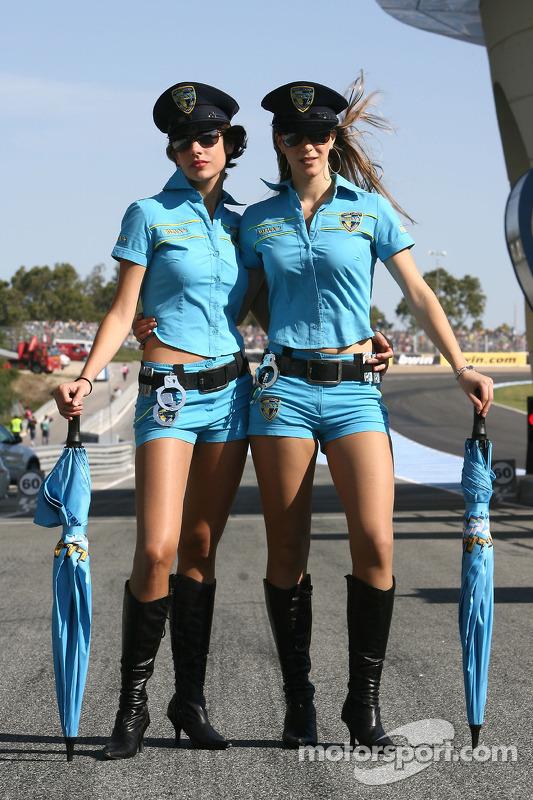 A charming Rizla+ Suzuki girl at Spanish GP