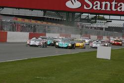 Start: #14 K plus K Motorsport Saleen S7R: Karl Wendlinger, Ryan Sharp and #1 Vitaphone Racing Team Maserati MC 12: Michael Bartels, Andrea Bertolini battle for lead