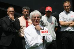 Bernie Ecclestone, Lewis Hamilton, McLaren Mercedes honoured at the Circuit de Catalunya