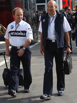 Joseph Leberer, BMW Sauber F1 Team and Peter Sauber, BMW Sauber F1 Team, Team Advisor