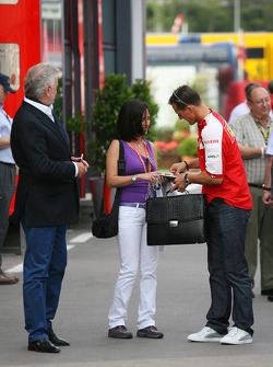 Willi Weber, Driver Manager and Michael Schumacher, Test Driver, Scuderia Ferrari