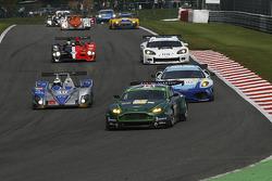 #40 Quifel - ASM Team Ginetta-Zytek 09S - Zytek: Miguel Amaral, Olivier Pla; #87 Drayson Racing Aston Martin Vantage GT2: Paul Drayson, Jonny Cocker