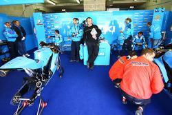 Rizla Suzuki MotoGP pit box