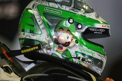 Helmet of Timo Scheider, Audi Sport Team Abt