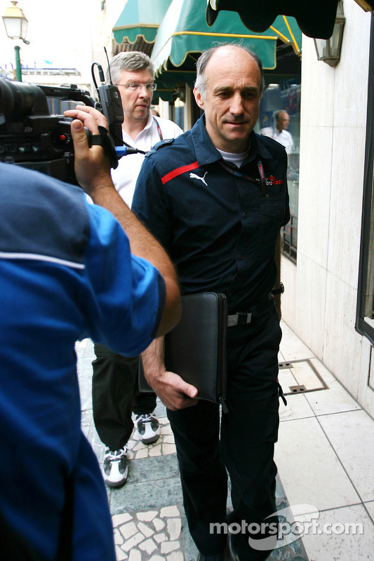 Franz Tost, Scuderia Toro Rosso, Team Principal goes to the meeting with Bernie Ecclestone and Max M