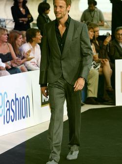 Jenson Button, Brawn GP at the fashion show