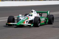 Tony Kanaan enters the pits