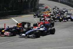 start of the race, Sebastian Vettel, Red Bull Racing and Nico Rosberg, Williams F1 Team