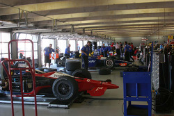 Garage area at Texas Motor Speedway