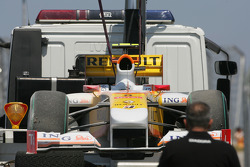 Nelson A. Piquet, Renault F1 Team who spins out of the track during qualifying
